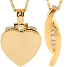 Gold Cremation Jewelry